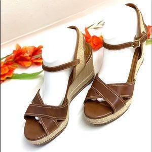 Clark's Wedges Sandals Brown